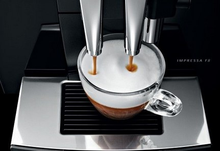 Jura Impressa F8 preparare cafea